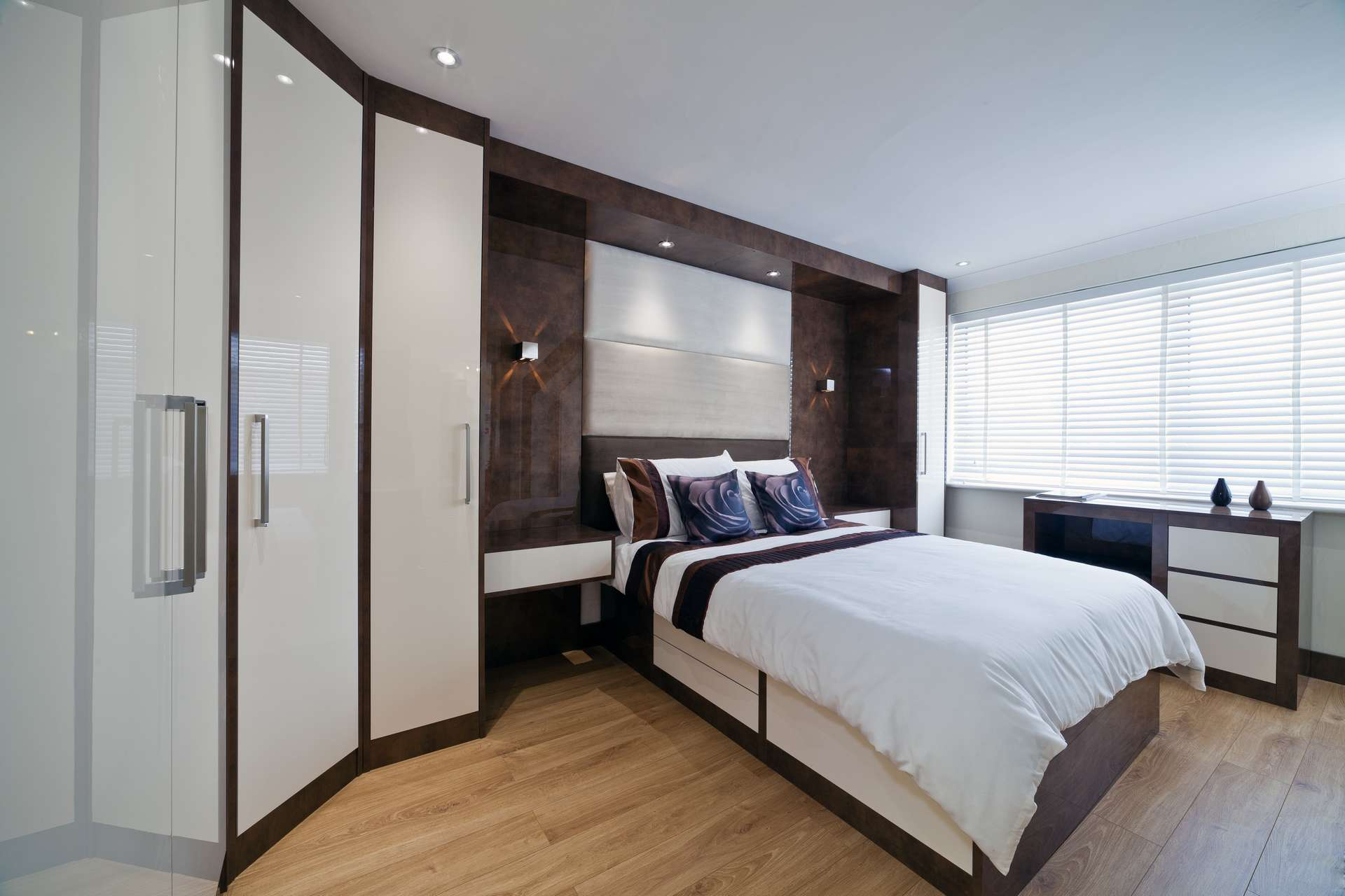 High gloss white fitted bedroom wardrobe doors for bedroom furniture design ideas
