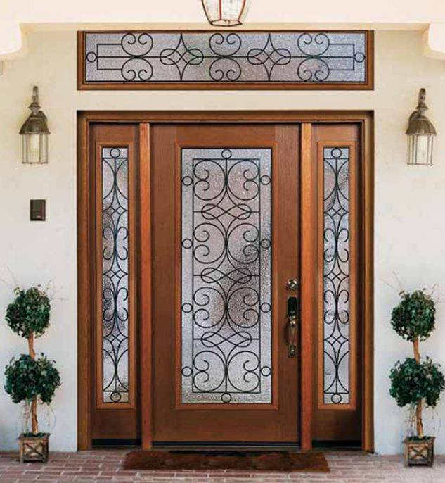 Single front door designs for residential house