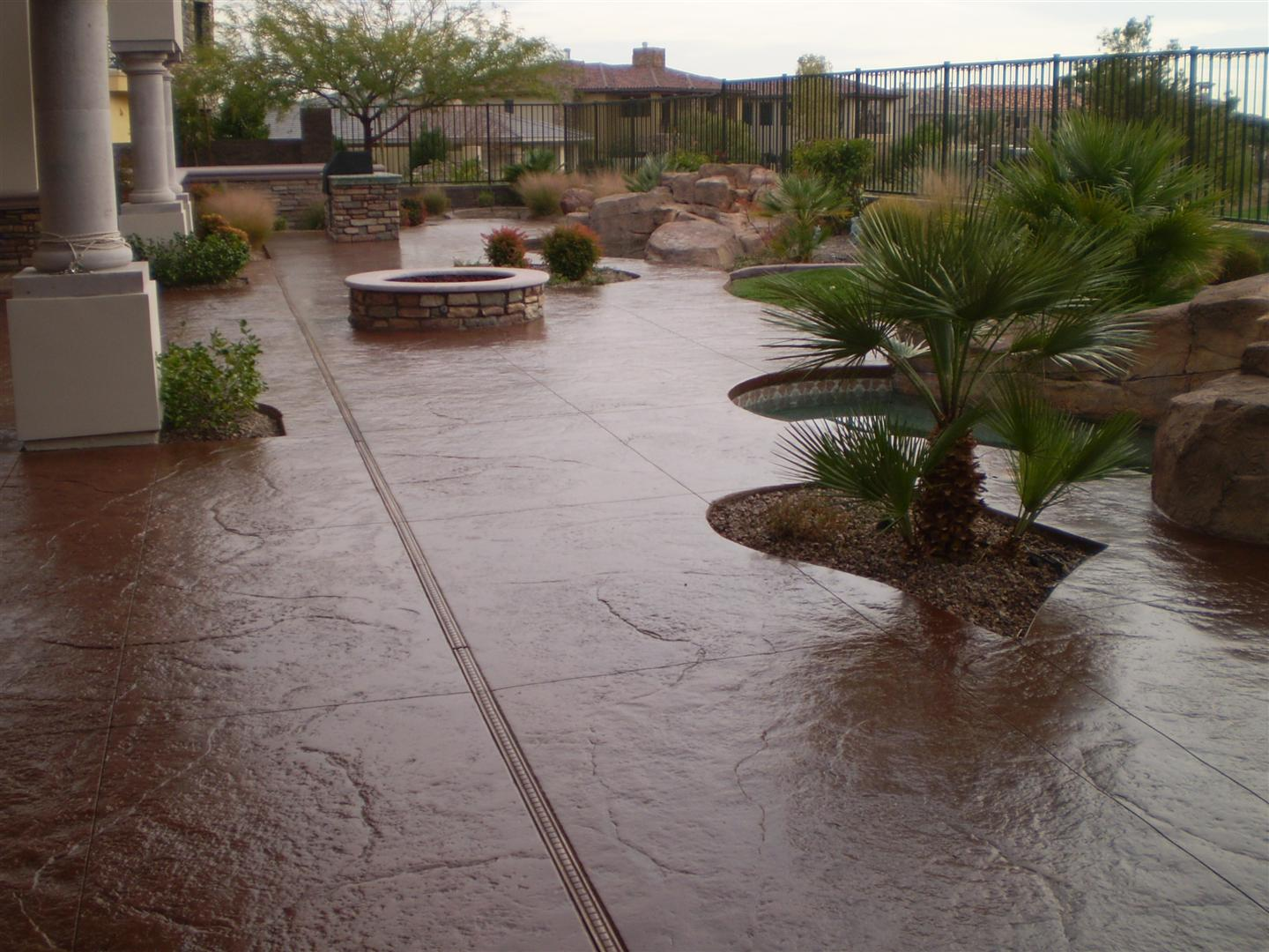 Stamped concrete over existing concrete