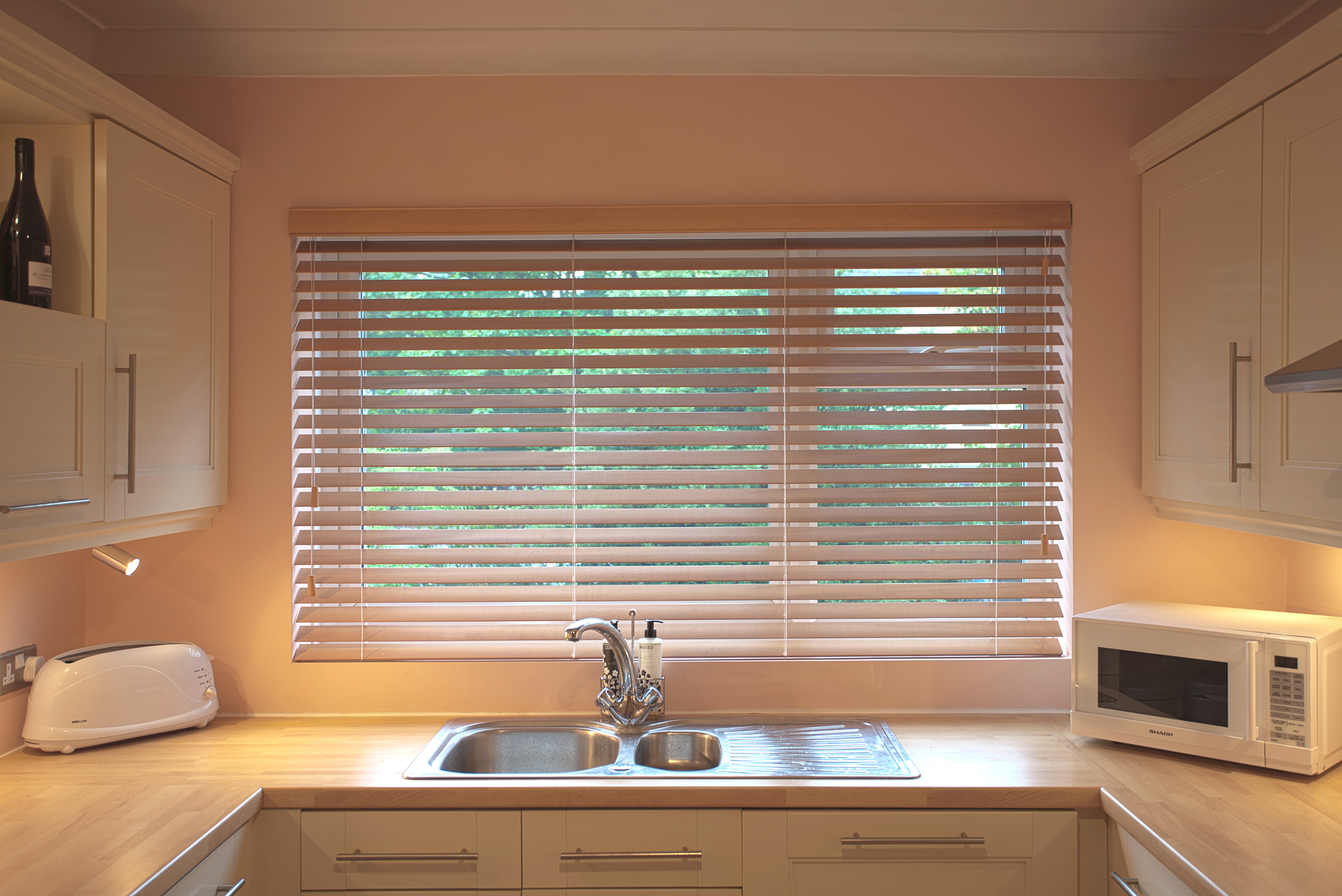 Real wood blinds great bedroom window treatments