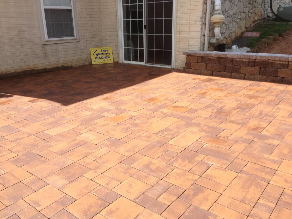 Easy patio ideas with stamped concrete designs cool outdoor patio ideas