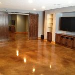 Cozy Polished Concrete Floor Decorating Ideas with Photos
