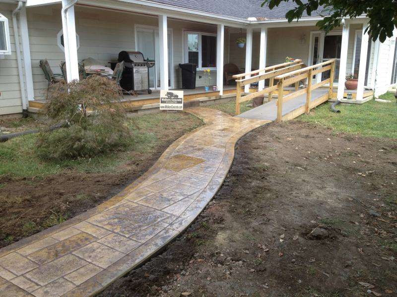 stunning cool stamped concrete driveway brilliant patio ideas for small gardens